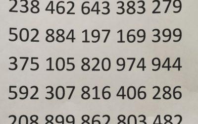 Nov rekord naše  šole v deklamiranju decimalk števila pi (102)